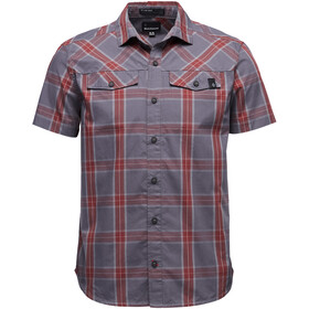 Black Diamond Benchmark - Camiseta manga corta Hombre - gris/rojo